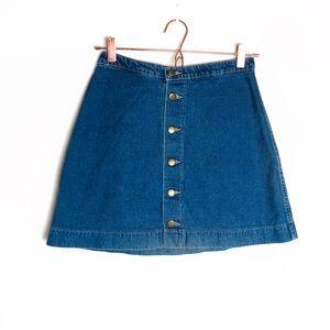 EUC American Apparel Vintage Wash Denim Skirt Med